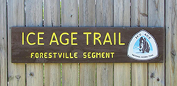 Ice Age Trail Rest Area in Maplewood